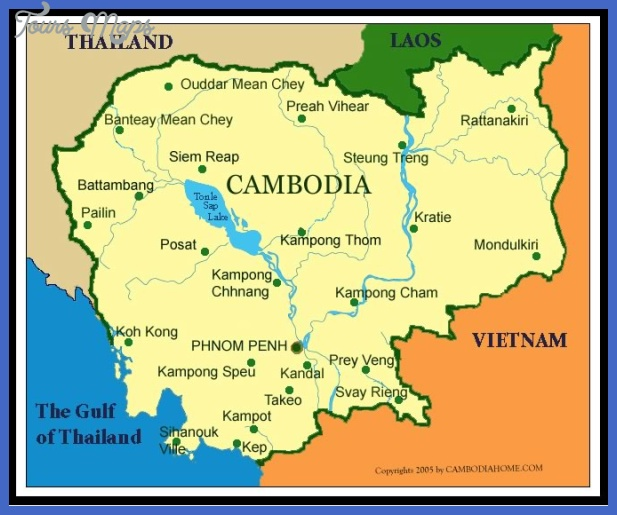 cambodia map  1 Cambodia Map