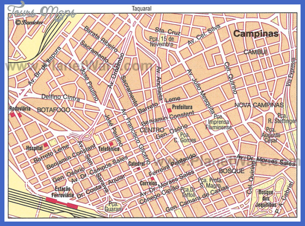 campinas map Campinas Map Tourist Attractions