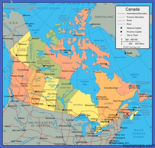 Map Of South Canada World Infomation