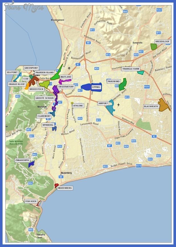cape metro sra map Cape Town Metro Map