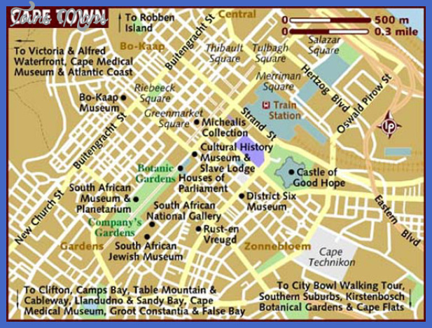 cape town map 1 Cape Town Map