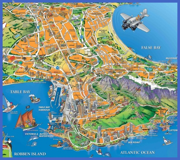 cape town map  7 Cape Town Map