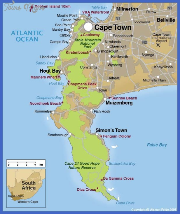 cape town map Cape Town Map