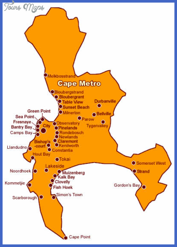 cape town map2 Cape Town Metro Map