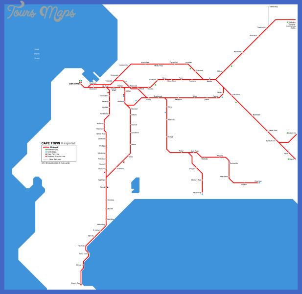capetown map Cape Town Metro Map