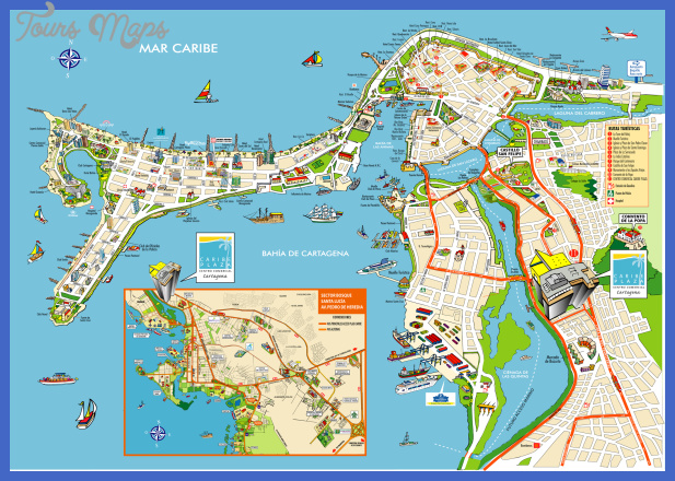 Chile Map Tourist Attractions ToursMapsCom – Colombia Tourist Attractions Map