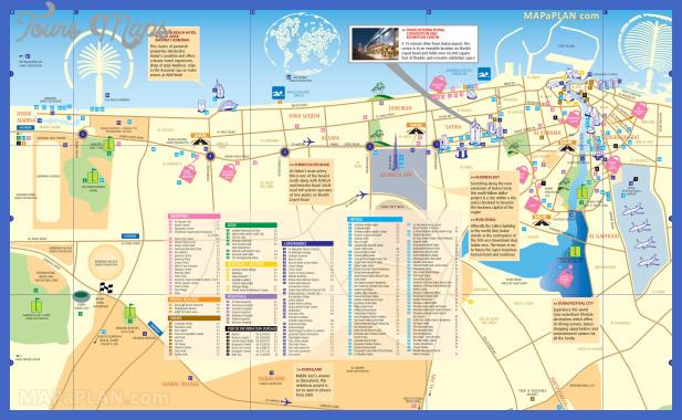 carte touristique dubai Dubai Map