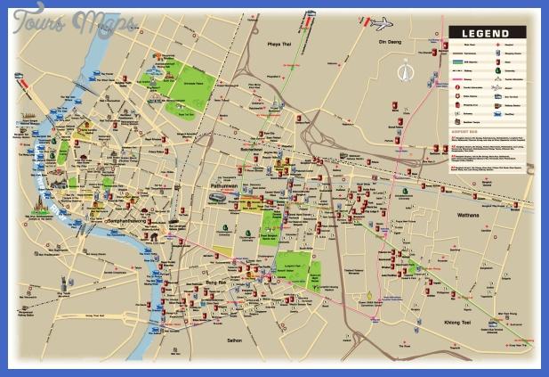carte bangkok routes metro informations hopitaux hotel aeroport tranports Tunisia Subway Map