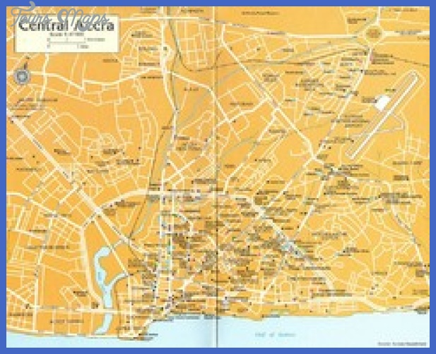 central accra tourist map thumb Ghana Map Tourist Attractions