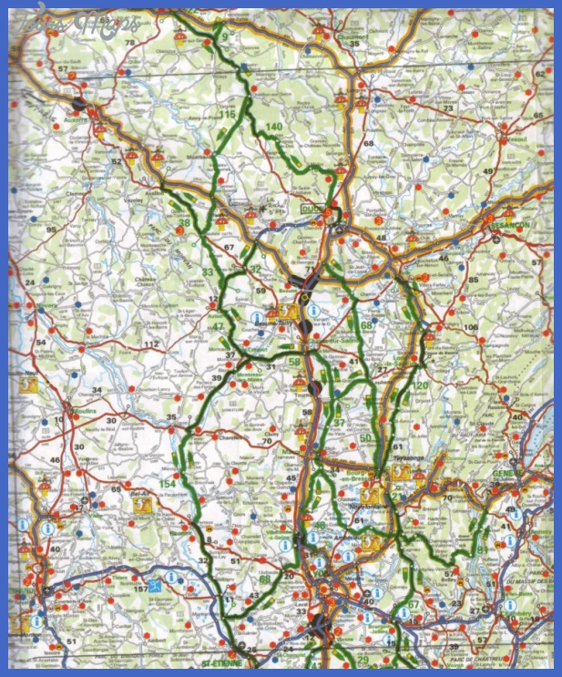 central france tourist map France Map Tourist Attractions