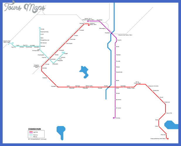 changchun metro map  1 Changchun Metro Map