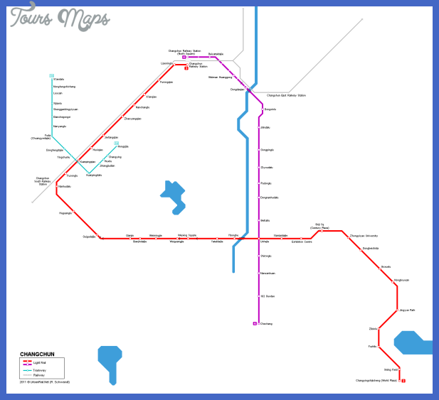 changchun metro map  4 Changchun Metro Map