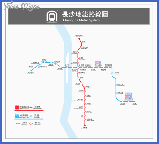 changsha metro map  4 Changsha Metro Map