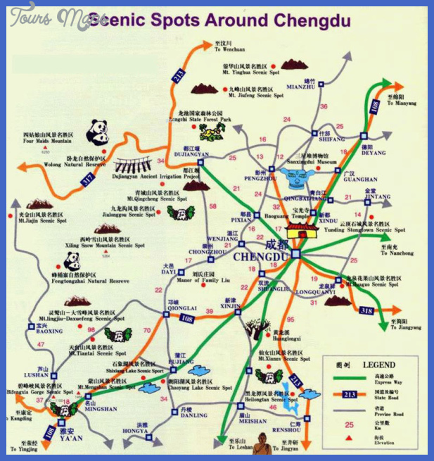 chengdu map tourist attractions  3 Chengdu Map Tourist Attractions