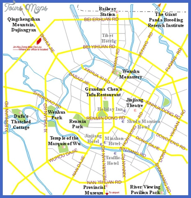 chengdu map tourist attractions  4 Chengdu Map Tourist Attractions