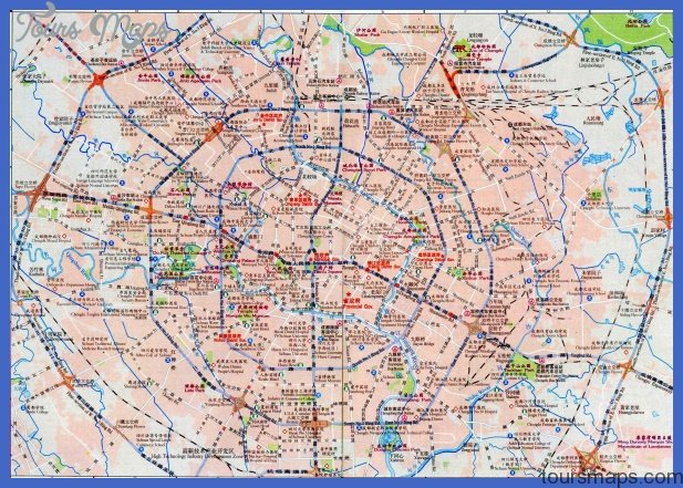 chengdu map tourist attractions  5 Chengdu Map Tourist Attractions