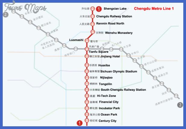chengdu metro map  4 Chengdu Metro Map