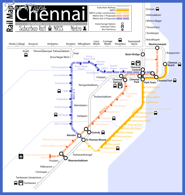 chennai metro map  0 Chennai Metro Map