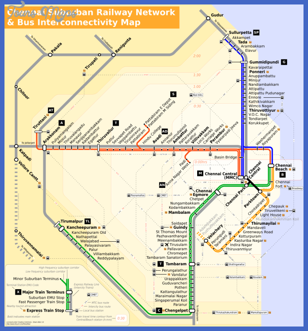 chennai metro map India Subway Map