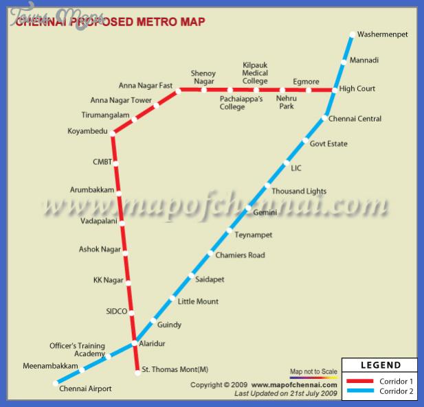 chennai proposed metro map 2 Chennai Subway Map