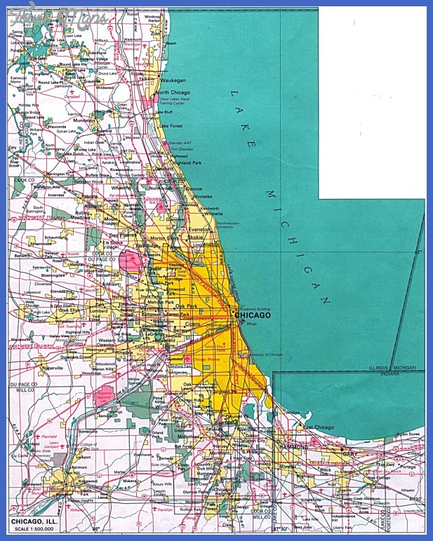 chicago map Chicago Map