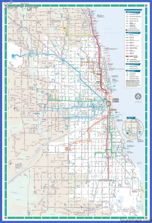 Subway Map Chicao.Chicago Subway Map Toursmaps Com