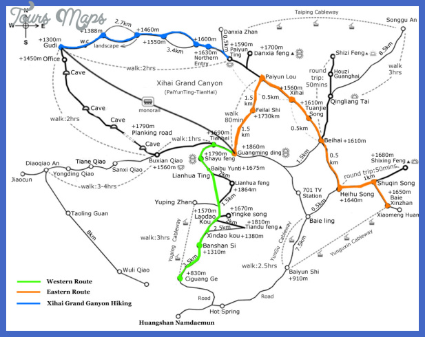 china hiking map  14 China hiking map