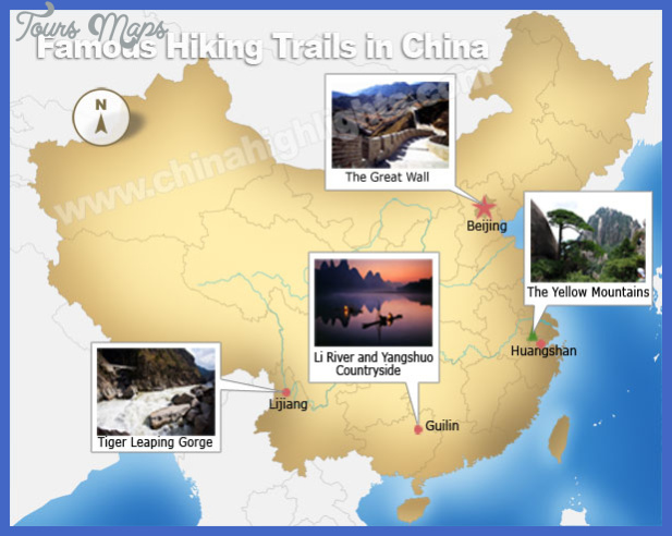 china hiking map  3 China hiking map
