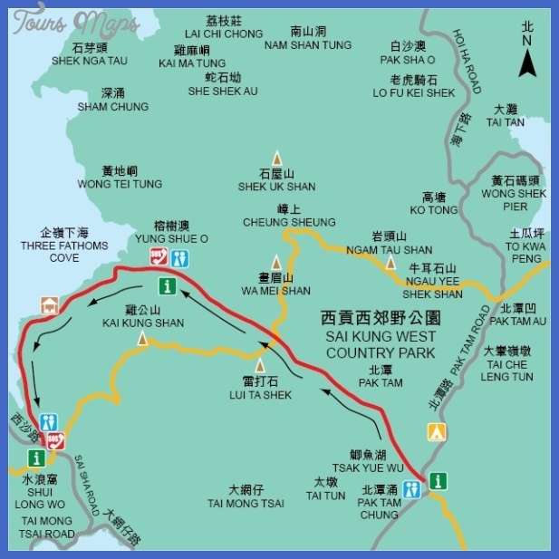 china hiking map  4 China hiking map
