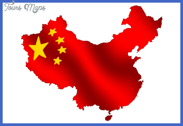 china map flag  2 China map flag
