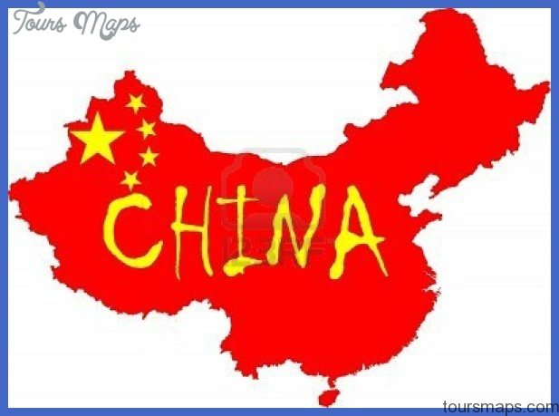 china map flag  5 China map flag