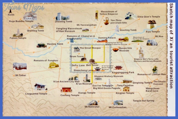 china map tourist attractions  7 China Map Tourist Attractions