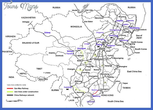 china map train  2 China map train
