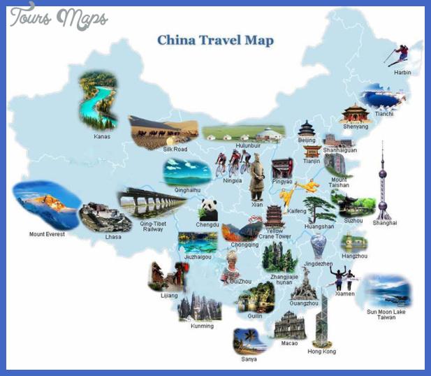 china travel map  3 China travel map