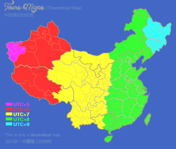 china zone map  1 China zone map