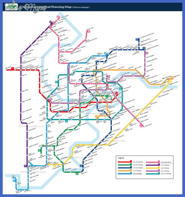 chongqing light rail China Subway Map
