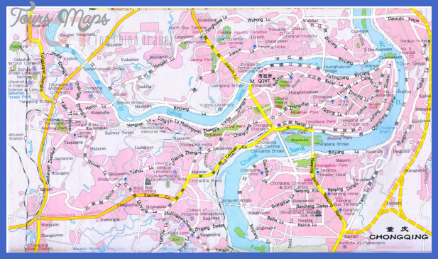 chongqing map tourist attractions  0 Chongqing Map Tourist Attractions