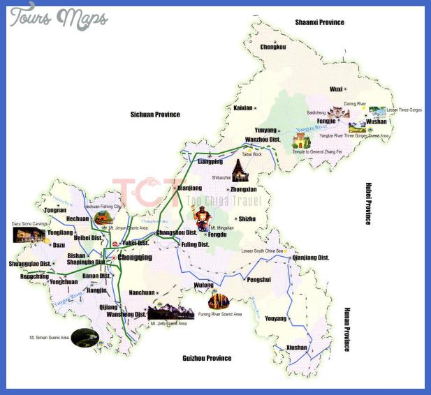 chongqing map tourist attractions  1 Chongqing Map Tourist Attractions