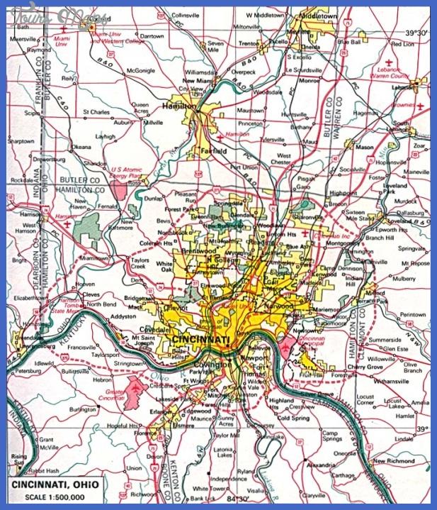 cincinnati 1 Cincinnati Metro Map