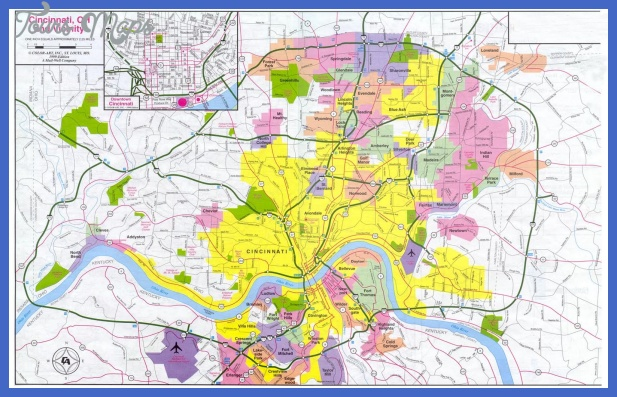 cincinnati map in detail Cincinnati Metro Map