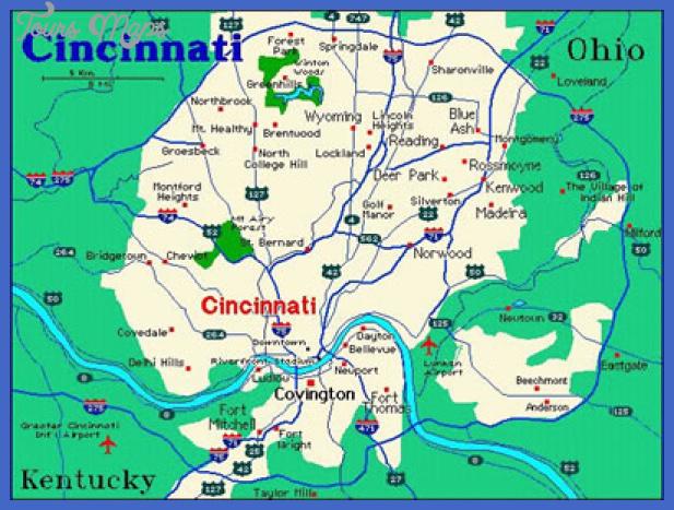 cincinnati map ohio Cincinnati Map