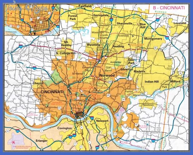 cincinnati metro map  1 Cincinnati Metro Map