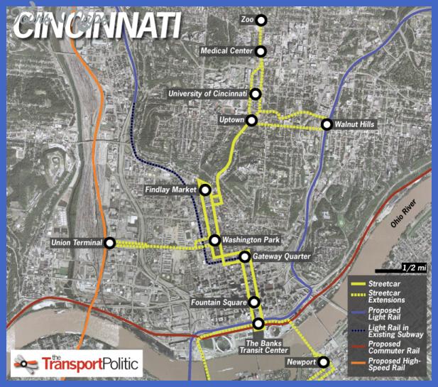cincinnati metro map  3 Cincinnati Metro Map