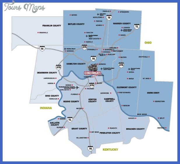 cincinnati msa Cincinnati Metro Map