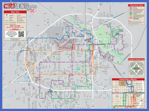 citibus routes map 1 map Lubbock Metro Map