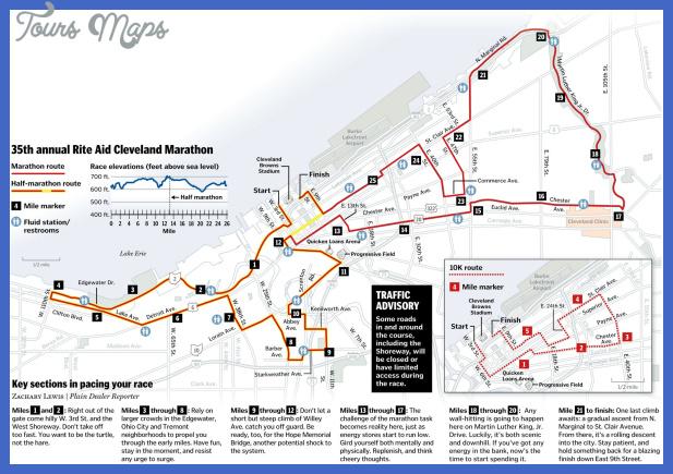 cleveland marathon map 169d2e6d172e7763 Cleveland Map