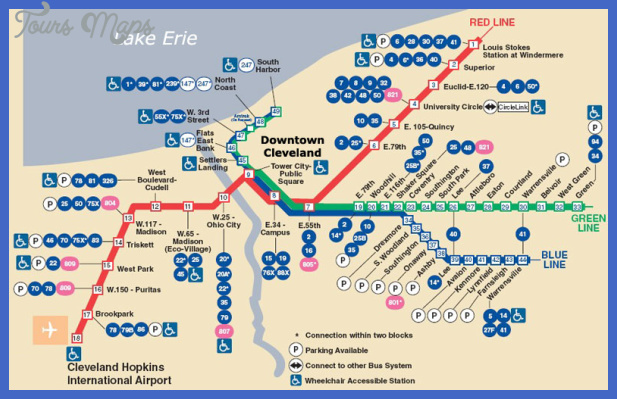 Cleveland Map - ToursMaps.com ® on