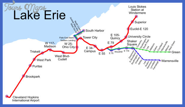 cleveland subway map  11 Cleveland Subway Map