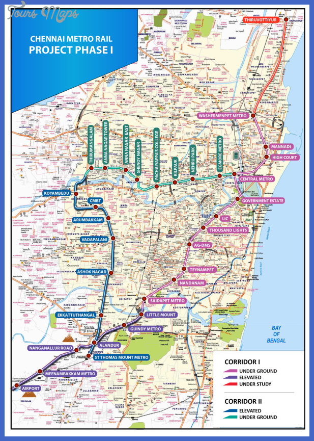 cmrl metro alignment Chennai Metro Map