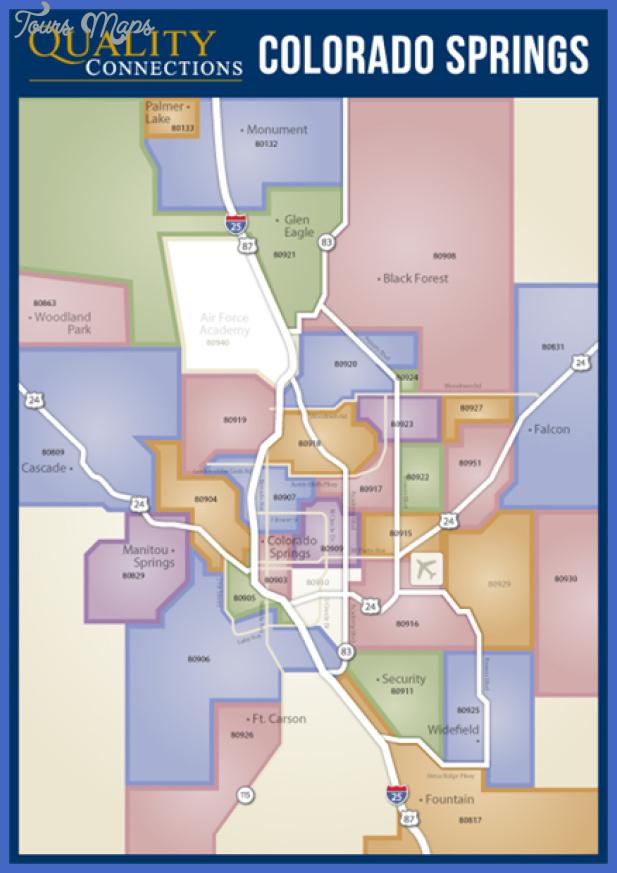 colorado springs map 03 Colorado Springs Metro Map
